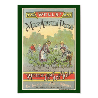 Etiqueta del producto del vintage; Los pozos Anuncio