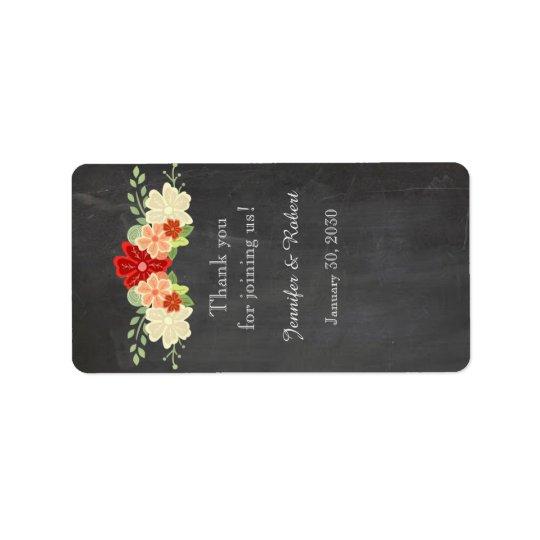 Etiqueta del protector labial del boda de la