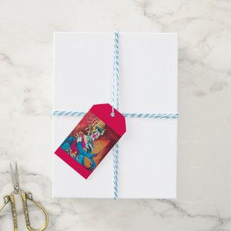 Etiqueta del regalo con el bailarín tailandés etiquetas para regalos