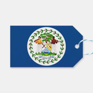 Etiqueta del regalo con la bandera de Belice