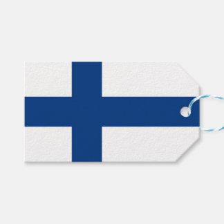 Etiqueta del regalo con la bandera de Finlandia