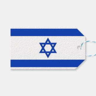 Etiqueta del regalo con la bandera de Israel