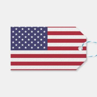 Etiqueta del regalo con la bandera de los Estados