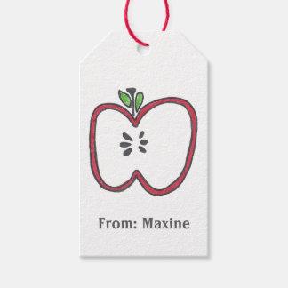 Etiqueta del regalo de Apple Etiquetas Para Regalos