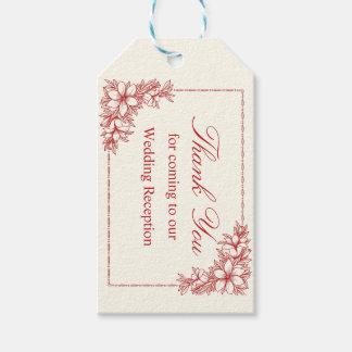 Etiqueta del regalo de boda