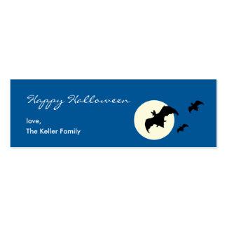 Etiqueta del regalo de Halloween de la Luna Llena Plantillas De Tarjetas Personales