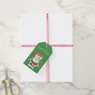 Etiqueta del regalo de Joyeux Noël Snowbell
