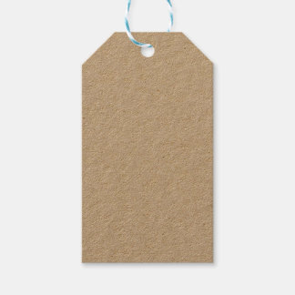 Etiqueta del regalo de Kraft