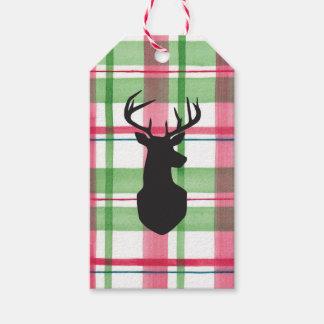 Etiqueta del regalo de la cabeza de los ciervos de etiquetas para regalos