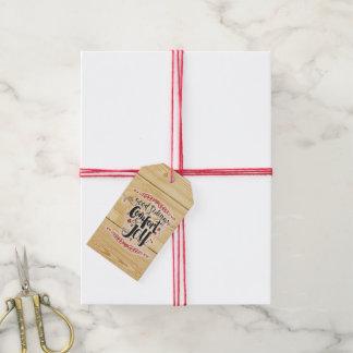 Etiqueta del regalo de la comodidad y de la