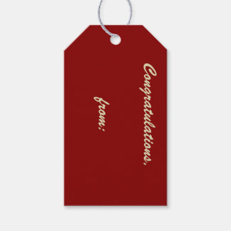 Etiqueta del regalo de la enhorabuena de la etiquetas para regalos