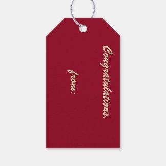 Etiqueta del regalo de la enhorabuena del arándano etiquetas para regalos