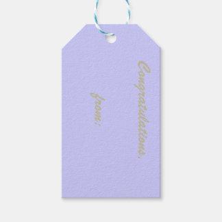 Etiqueta del regalo de la enhorabuena del bígaro etiquetas para regalos