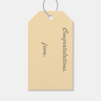Etiqueta del regalo de la enhorabuena del etiquetas para regalos