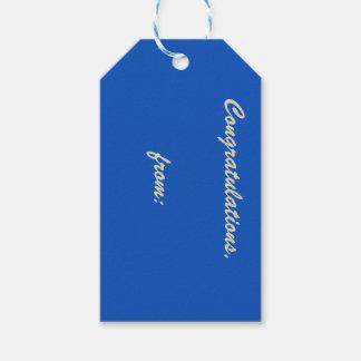 Etiqueta del regalo de la enhorabuena del zafiro etiquetas para regalos
