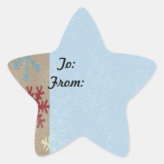 Etiqueta del regalo de la escama de la estrella