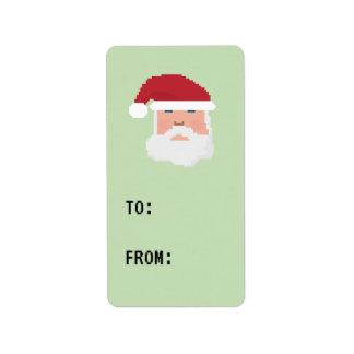 Etiqueta del regalo de la etiqueta del pixel 8bit etiquetas de dirección