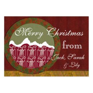 Etiqueta del regalo de la familia de los regalos d plantilla de tarjeta de visita