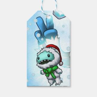 Etiqueta del regalo de la muñeca de Yeti