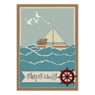 Etiqueta del regalo de la navegación tarjetas de visita grandes