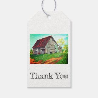 Etiqueta del regalo de la pintura de la granja