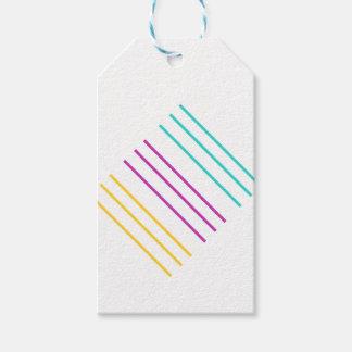 Etiqueta del regalo de la raya etiquetas para regalos