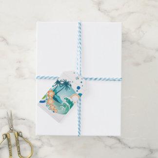Etiqueta del regalo de la resaca de la isla etiquetas para regalos