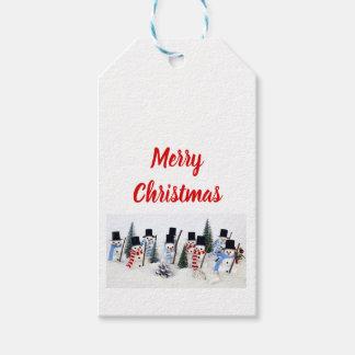 Etiqueta del regalo de la reunión del navidad de