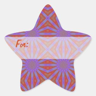 Etiqueta del regalo de las estrellas de la púrpura