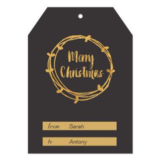 Etiqueta del regalo de las Felices Navidad Invitación 12,7 X 17,8 Cm