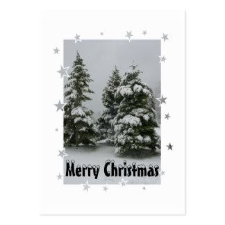 Etiqueta del regalo de los árboles de navidad y de tarjetas de visita grandes