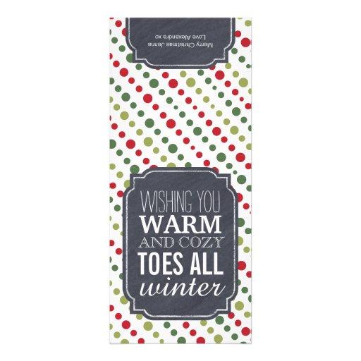 """Etiqueta del regalo """"de los dedos del pie caliente anuncio"""