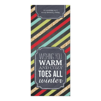 """Etiqueta del regalo """"de los dedos del pie invitación 10,1 x 23,5 cm"""