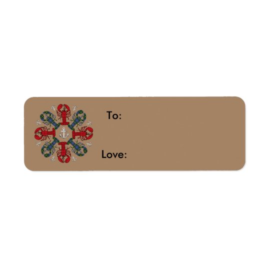 Etiqueta del regalo de N.S. Christmas del ancla Etiqueta De Remite