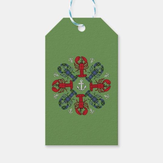 Etiqueta del regalo de N.S. Christmas del ancla Etiquetas Para Regalos