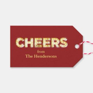 Etiqueta del regalo de vacaciones de las alegrías etiquetas para regalos