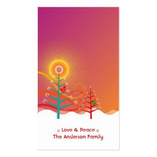 etiqueta del regalo de vacaciones de los polluelos tarjetas de visita