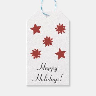 Etiqueta del regalo de vacaciones: Estrellas del Etiquetas Para Regalos