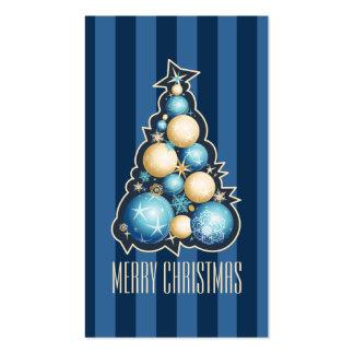 Etiqueta del regalo del árbol de navidad de las tarjetas de visita