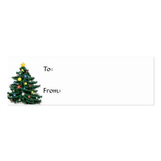 Etiqueta del regalo del árbol de navidad plantilla de tarjeta de visita