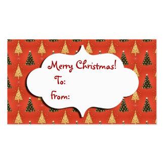 Etiqueta del regalo del árbol de navidad tarjetas de visita