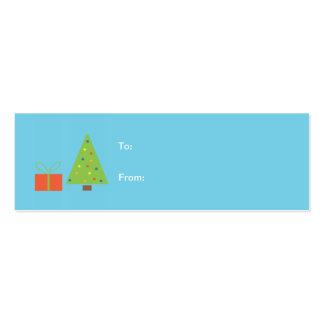 Etiqueta del regalo del árbol de navidad tarjetas de visita mini