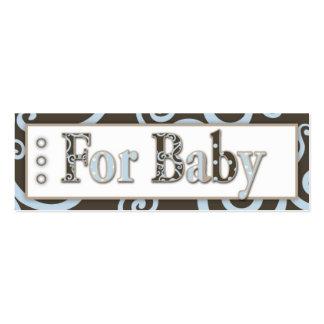Etiqueta del regalo del bebé del Seahorse Tarjetas De Visita Mini