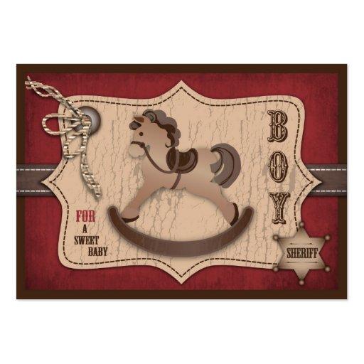 Etiqueta del regalo del bebé del vaquero plantilla de tarjeta de visita