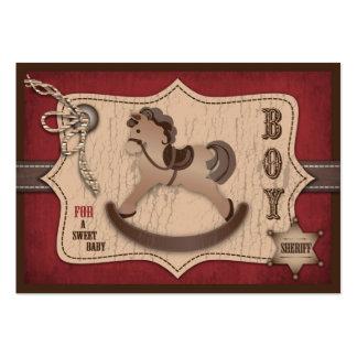 Etiqueta del regalo del bebé del vaquero tarjetas de visita grandes