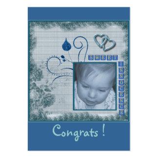 Etiqueta del regalo del bebé tarjetas de visita grandes