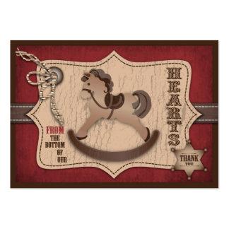 Etiqueta del regalo del bebé TY del vaquero Tarjetas De Visita Grandes