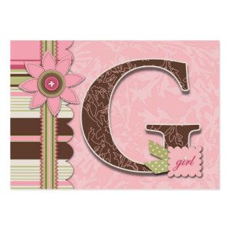 Etiqueta del regalo del chica de G Plantilla De Tarjeta Personal