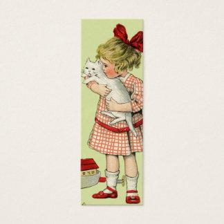 Etiqueta del regalo del chica del vintage o nota