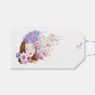 Etiqueta del regalo del florista